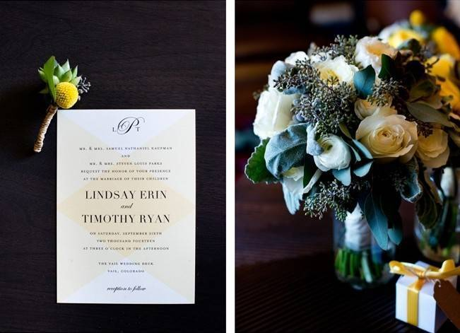 Yellow + Gray Mountain Wedding in Vail, Colorado {Brinton Studios} 2