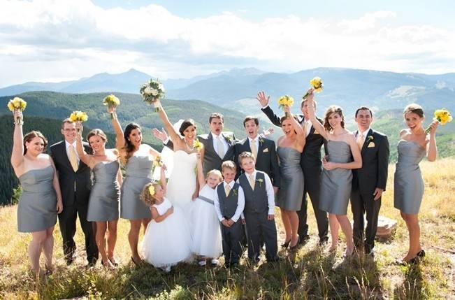 Yellow + Gray Mountain Wedding in Vail, Colorado {Brinton Studios} 9