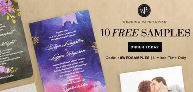 10 Free Samples Wedding Paper Divas
