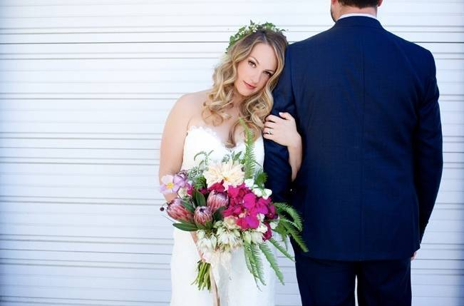 Backyard Vintage Boho Wedding {Christina O'Brien Photography} 9