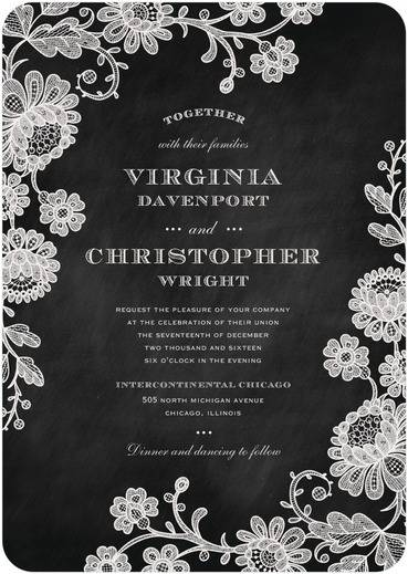 Chalked Affair Wedding Invitations