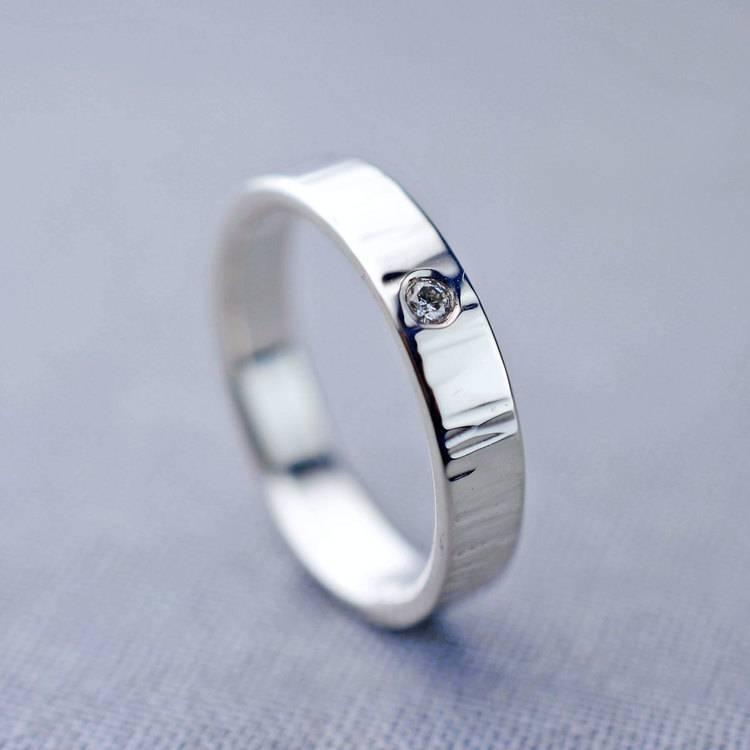 Diamond-Ripple-Ring – sterling silver