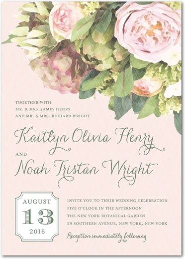 Flowering Affection Wedding Invitations