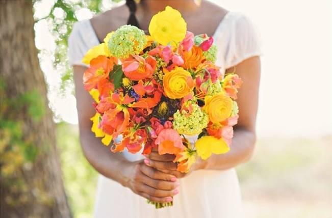 Neon Wedding Bouquets 1