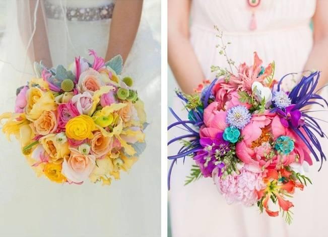 Neon Wedding Bouquets 3