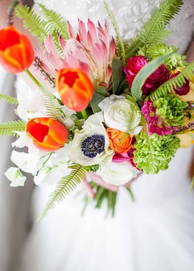 Neon Wedding Bouquets 4