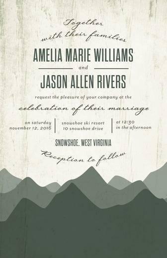 Rustic Horizon Wedding Invitations