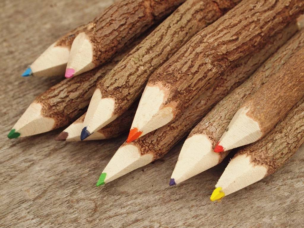 Wooden Colored Pencils set of 10
