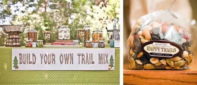 build your own trail mix wedding