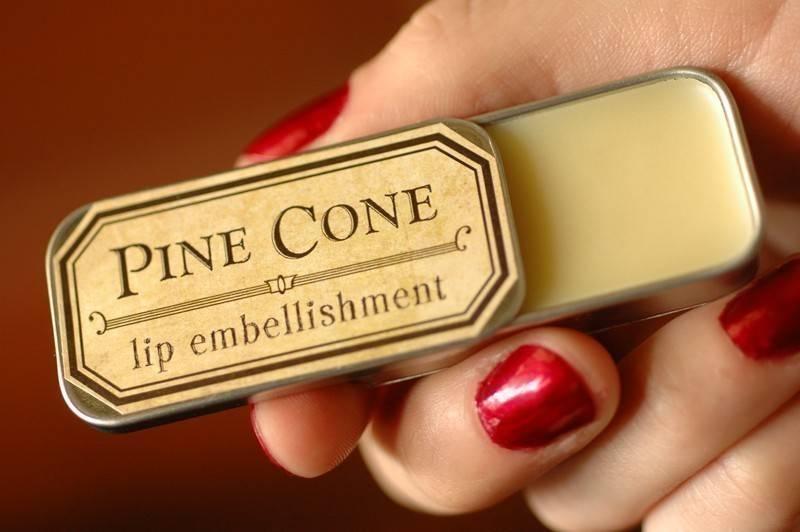 pinecone lip balm - woodland - for strange women