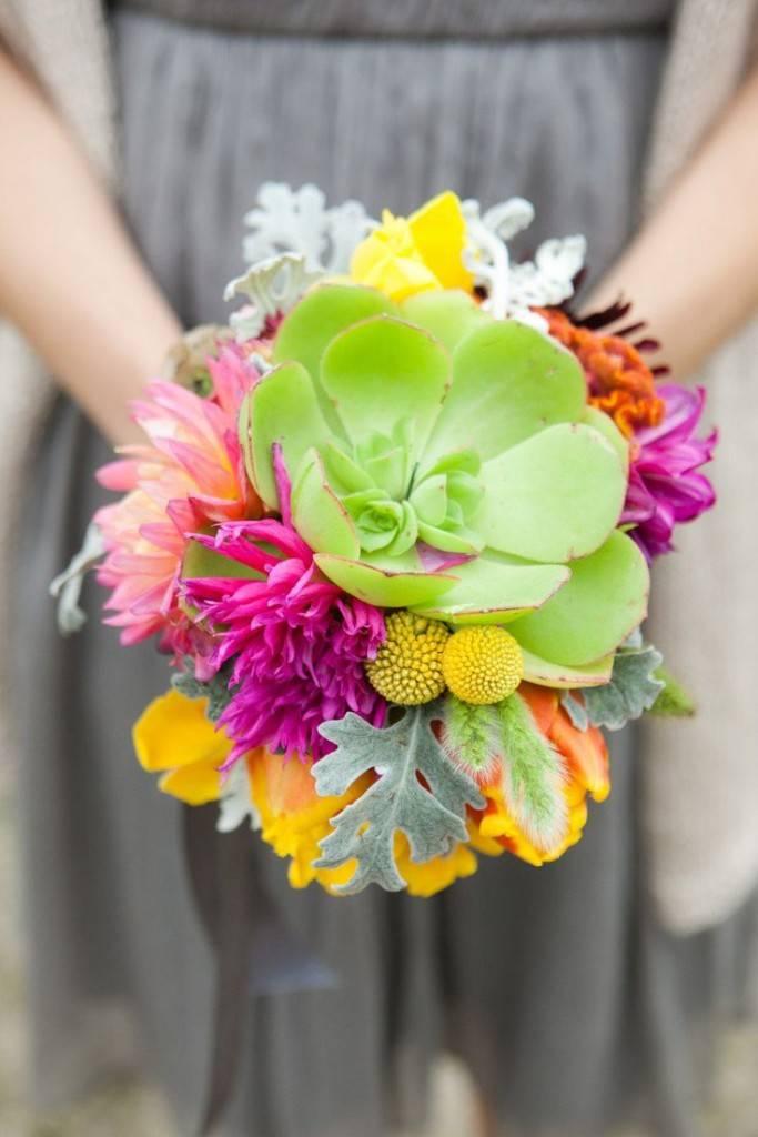 style me pretty neon green bouquet