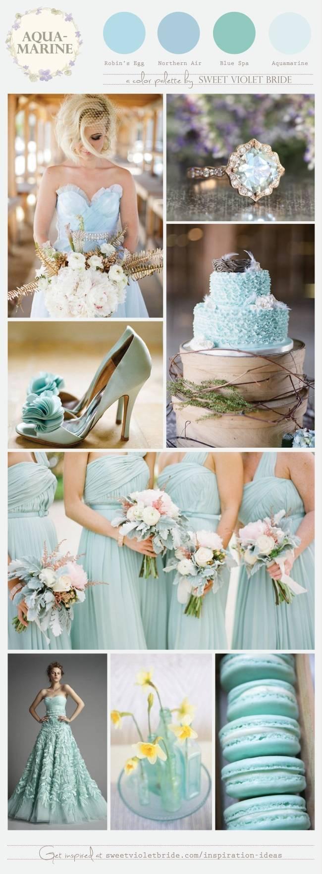 Aquamarine Wedding Palette