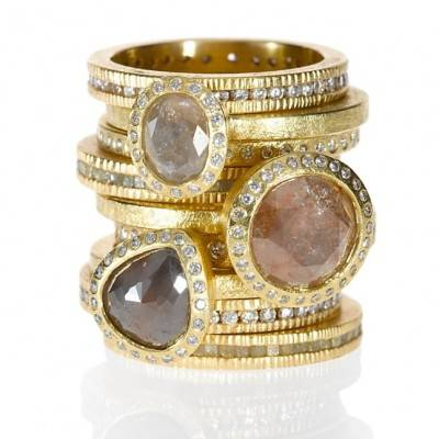 Stackable Engagement + Wedding Rings