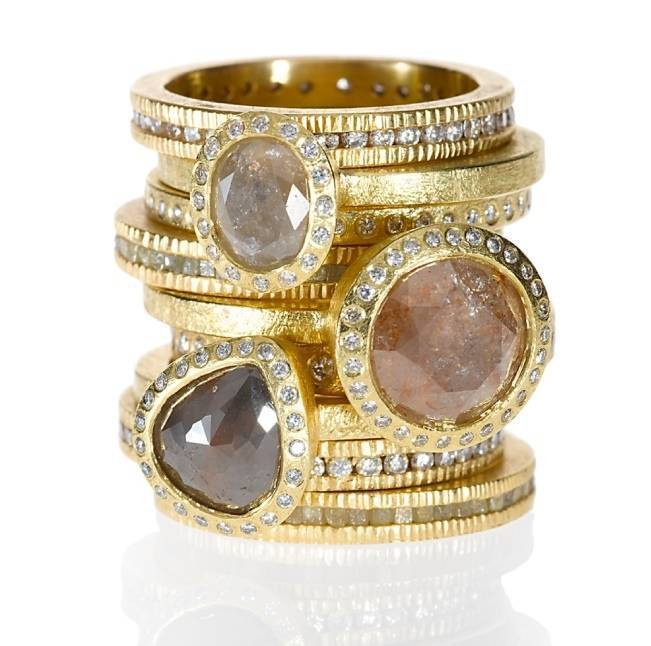 Stackable Engagement Wedding Rings 1