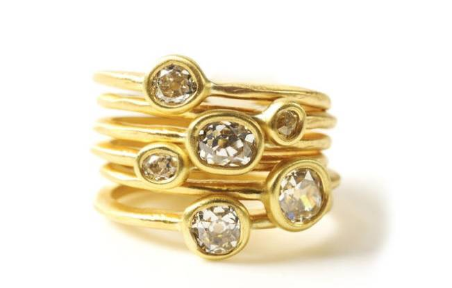 Stackable Engagement Wedding Rings 10
