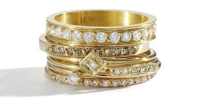 Stackable Engagement Wedding Rings 5