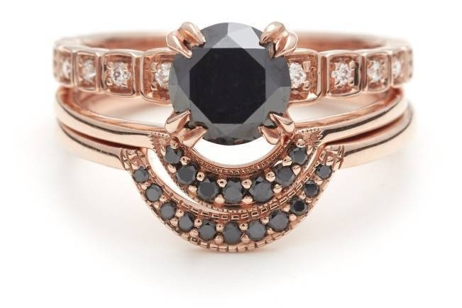 Stackable Engagement Wedding Rings 7