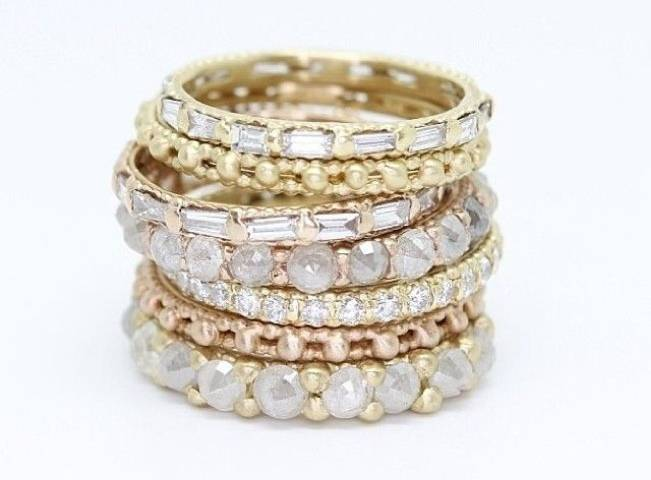 Stackable Engagement Wedding Rings 8
