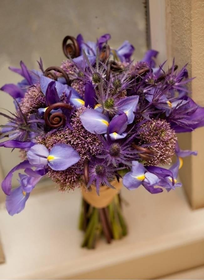wedding flower inspiration iris