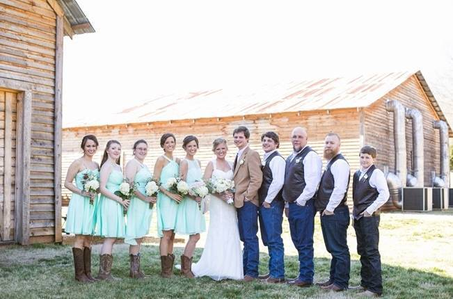 Charming Southern Wedding with Rustic Mint Details {Brandy Angel Photography} 21