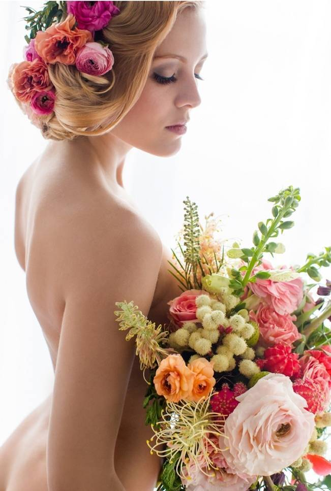 Floral Boudoir Shoot {Natalie Sinisgalli Photography} 5