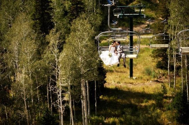 Green + Ivory Mountain Wedding at Deer Valley Resort 15