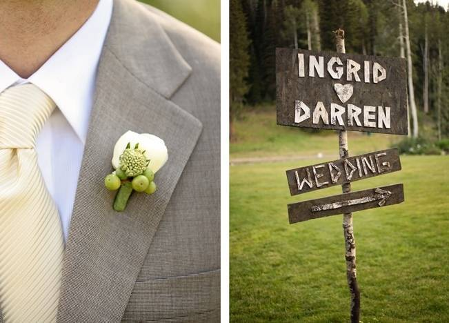 Green + Ivory Mountain Wedding at Deer Valley Resort  2