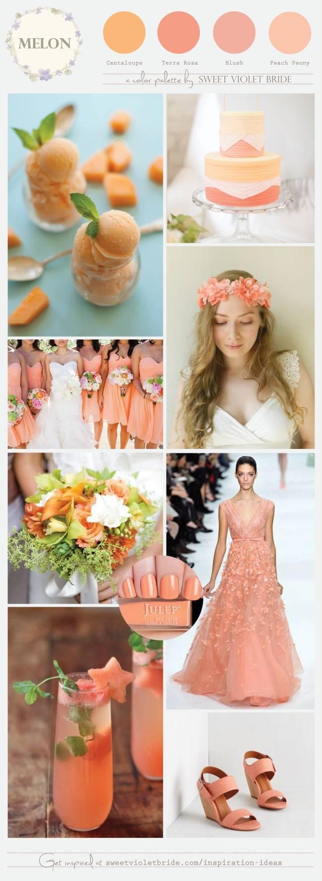 Melon Wedding Palette