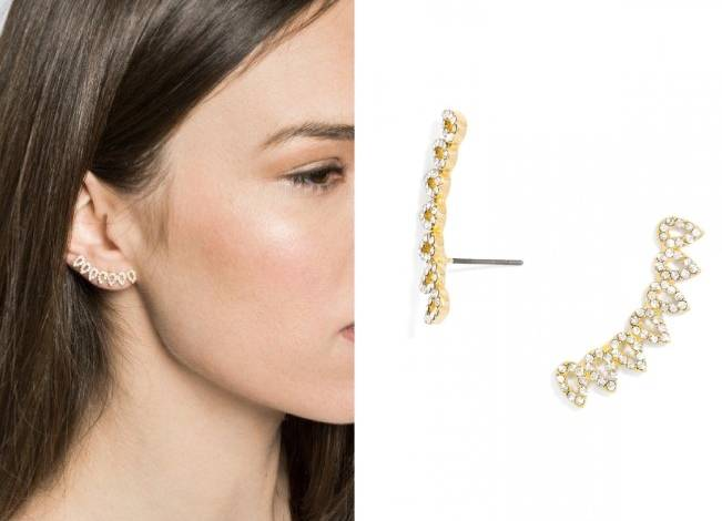 Pave Droplet Ear Crawlers from BaubleBar