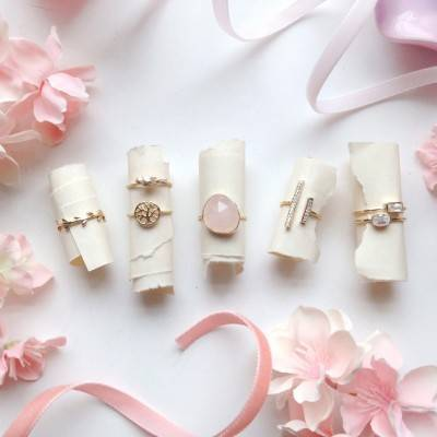 Fun Stacking + Midi Rings for You and Your Bridesmaids