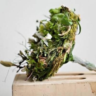 Whimsical Moss Wedding Bouquet Ideas