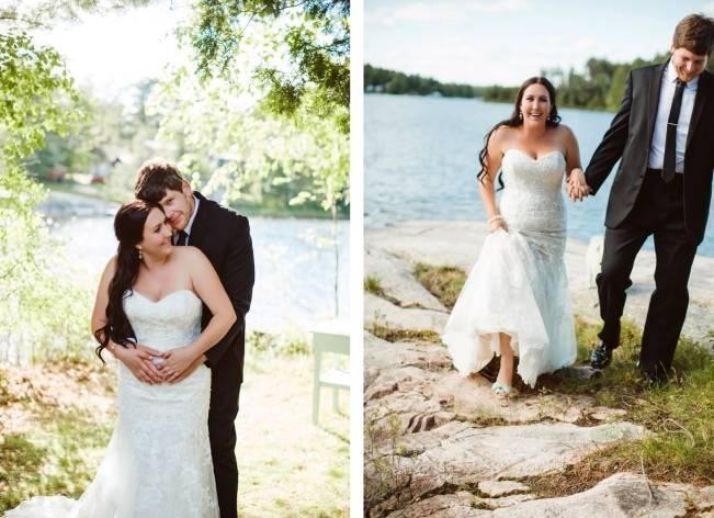 Mint Backyard wedding in Northern Ontario {Caroline Ross Photography} 14