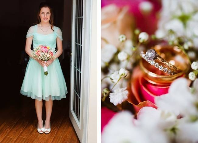 Mint Backyard wedding in Northern Ontario {Caroline Ross Photography} 2