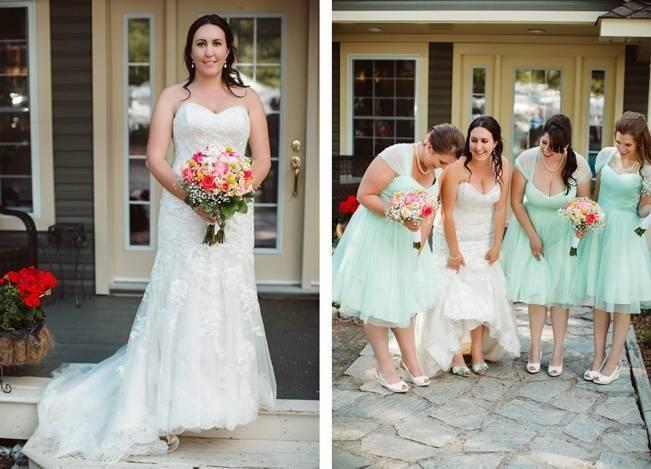 Mint Backyard wedding in Northern Ontario {Caroline Ross Photography} 4
