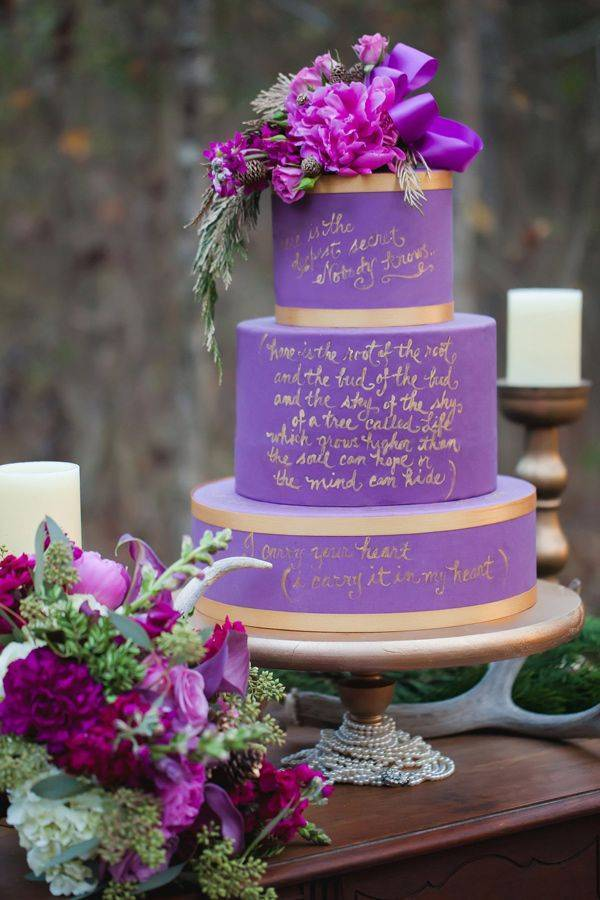 Prettiest Purple Cakes 8 - Casey Hendrickson Photography via ruffled