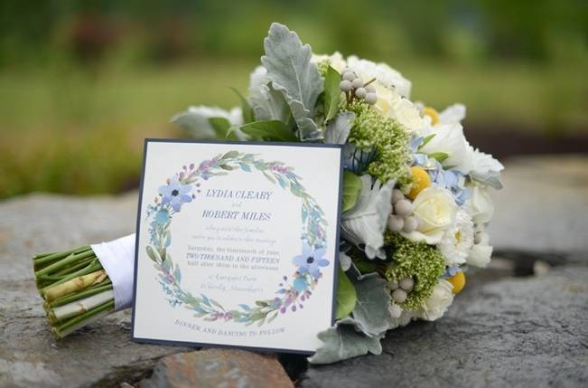 Blue + Yellow Country Chic Bridal Inspiration {Dani Fine Photography} 1