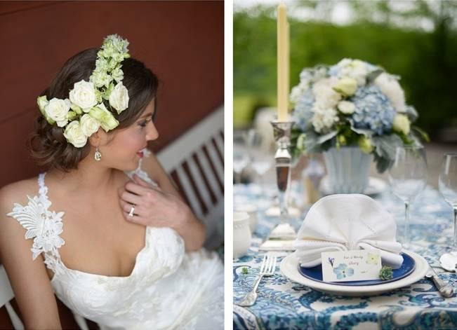 Blue + Yellow Country Chic Bridal Inspiration {Dani Fine Photography} 10