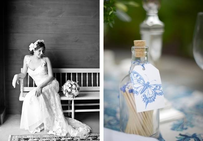 Blue + Yellow Country Chic Bridal Inspiration {Dani Fine Photography} 12
