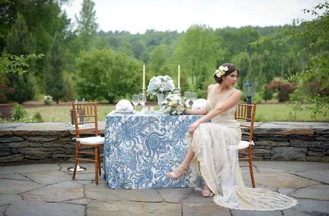 Blue + Yellow Country Chic Bridal Inspiration {Dani Fine Photography} 13