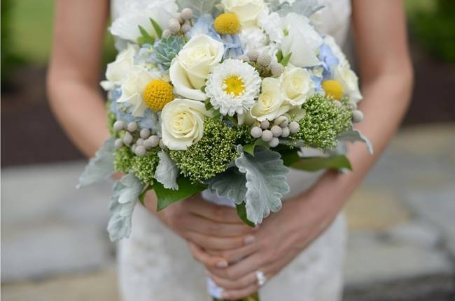 Blue + Yellow Country Chic Bridal Inspiration {Dani Fine Photography} 20