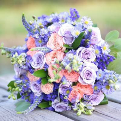Rustic Purple Bridal Look {Silver Nest Photography}