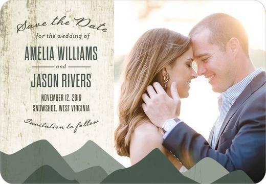 Rustic Horizon Save The Dates - Wedding Paper Divas