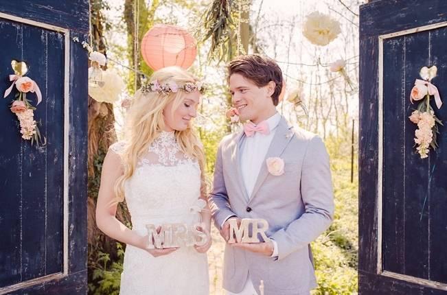 Rustic Peach Blossom Styled Shoot {Wedding Eve} 17