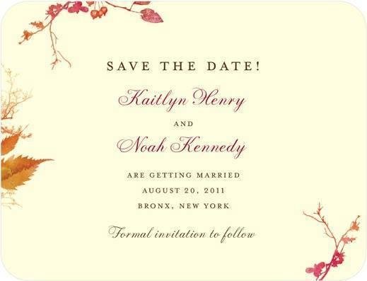 Rustic Print Save The Dates - Wedding Paper Divas
