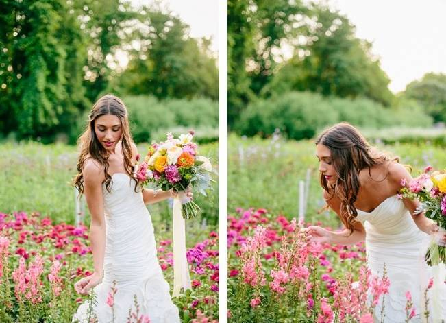 Wildflower Bridal Inspiration at Stray Cat Flower Farm {The Light + Color} 4