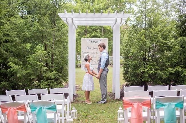 Peach and Teal Vintage Book Themed Wedding Inspiration {Star Noir Studio} 10