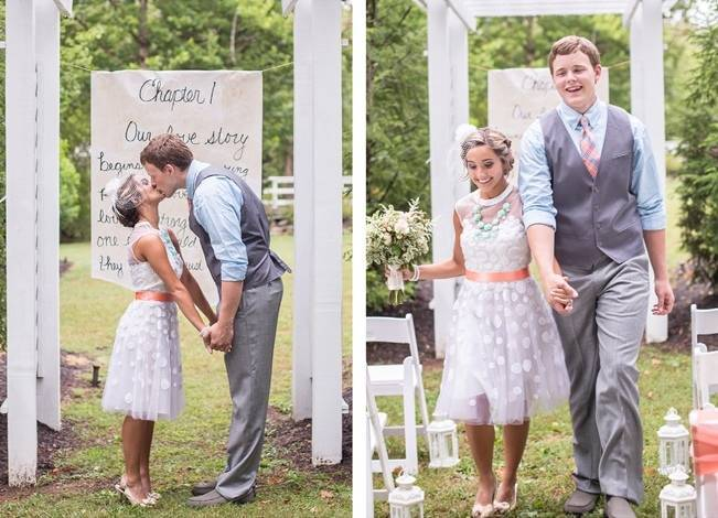 Peach and Teal Vintage Book Themed Wedding Inspiration {Star Noir Studio} 11