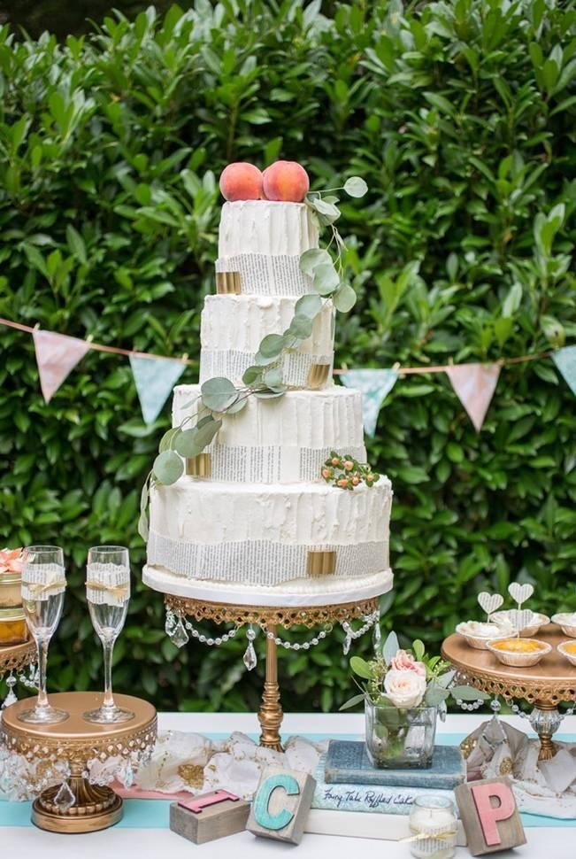 Peach and Teal Vintage Book Themed Wedding Inspiration {Star Noir Studio} 14