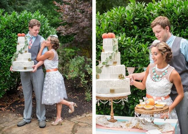 Peach and Teal Vintage Book Themed Wedding Inspiration {Star Noir Studio} 15