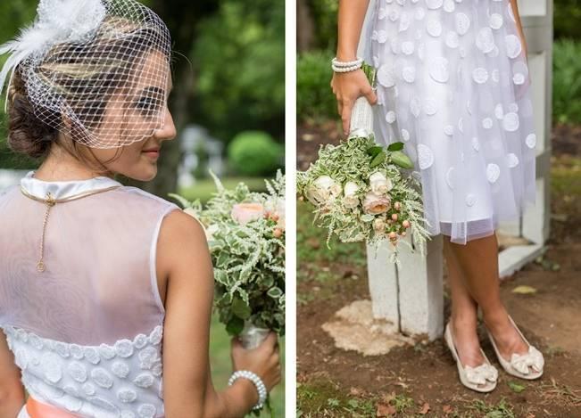 Peach and Teal Vintage Book Themed Wedding Inspiration {Star Noir Studio} 2